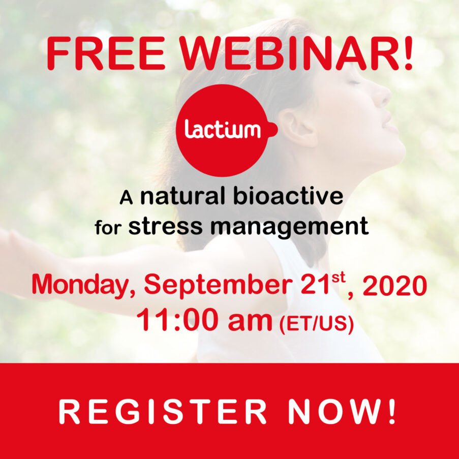 free webinar on lactium bioactive for stress management for serene life