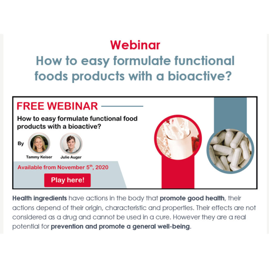 WEBINAR applications with bioactives